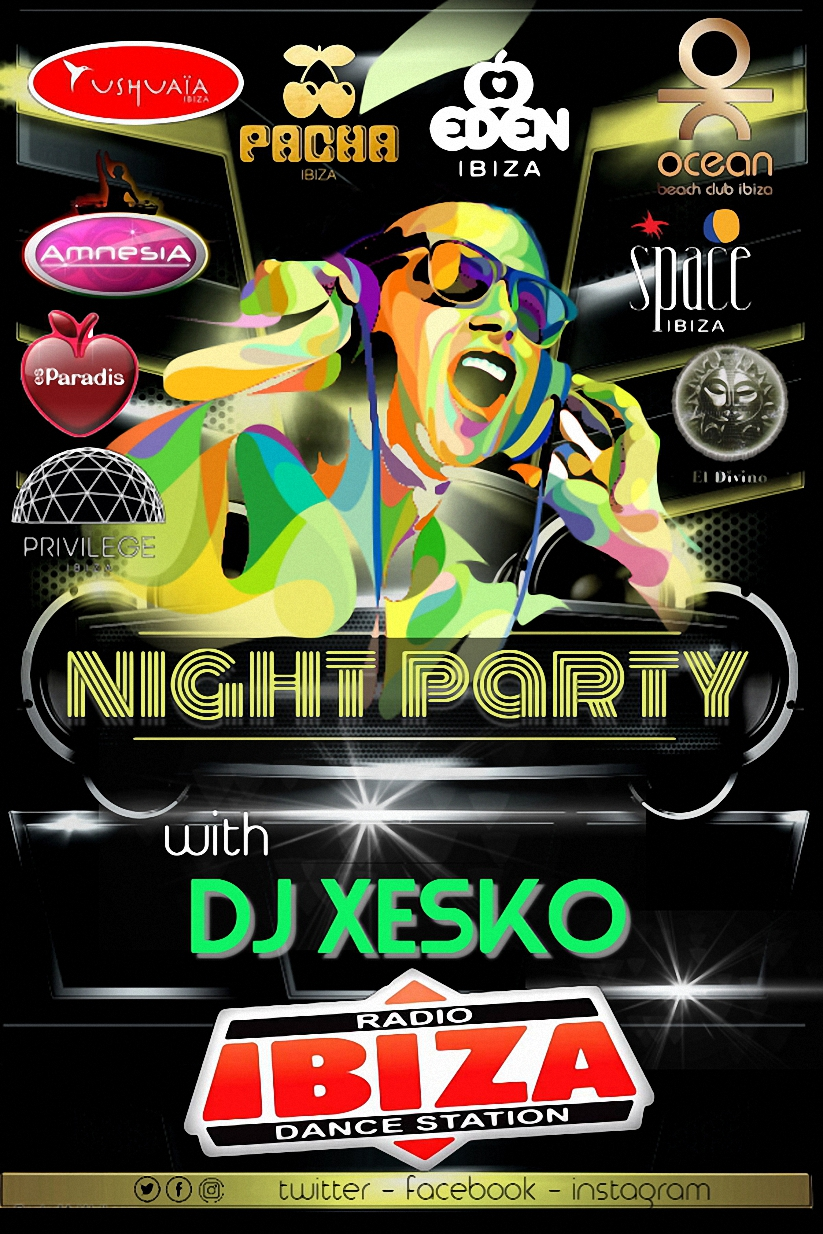 Ibiza DJ Party Event Night Flyer Poster - Hecho con PosterMyWallred